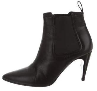 Robert Clergerie Leather Pointed-Toe Ankle Boots
