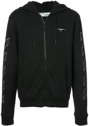 Off-White zip front hoodie