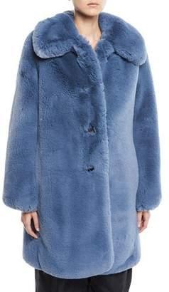 Marc Jacobs Chubby Plush Coat w/ Collar