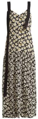 Joseph Celeste Floral Print Silk Dress - Womens - Black Print