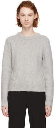 Chloé Grey Fluffy Crewneck Sweater