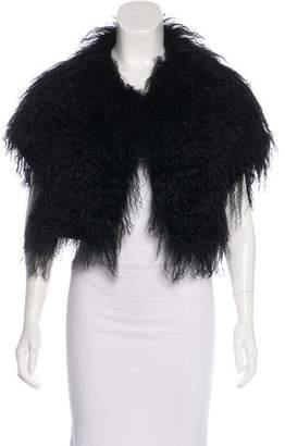 Pologeorgis Mongolian Fur Shawl