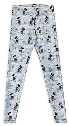 Terez Girls' Disney x Terez Heathered Mickey Mouse Leggings - Big Kid