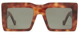 Loewe Square Frame Tortoiseshell Acetate Sunglasses - Womens - Tortoiseshell