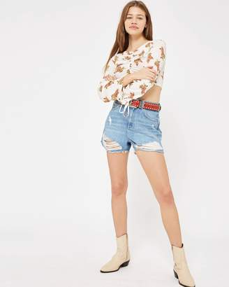 Topshop Mom Authentic Rip High-Rise Shorts