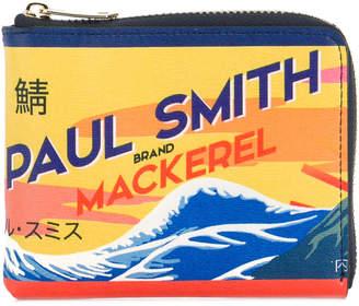 Paul Smith Mackerel print zipped cardholder