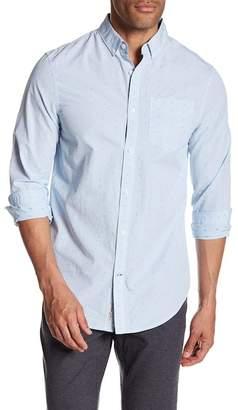 Original Penguin Long Sleeve Clipped Dobby Heritage Slim Fit Shirt