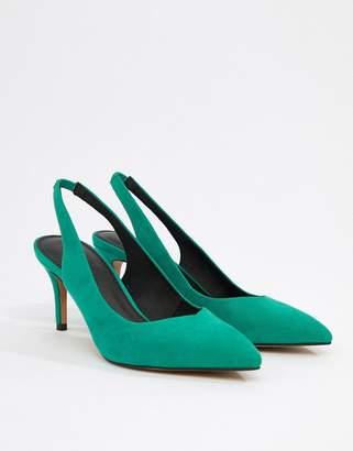 Sebastian ASOS DESIGN slingback mid heels