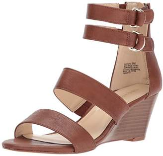 Nine West Women's Ione Synthetic Wedge Sandal