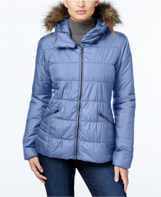 Columbia Sparks Lake Faux-Fur-Trim Thermal Coil Puffer Jacket $150 thestylecure.com
