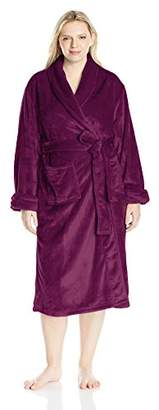 """Casual Moments Women's Plus Size 48"""" Shawl Collar Wrap Robe"""