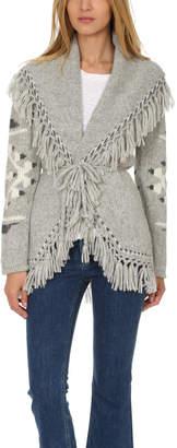LoveShackFancy Atlas Tassel Shawl Sweater