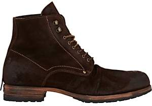 Shoto Men's Wrinkled-Vamp Boots - Brown