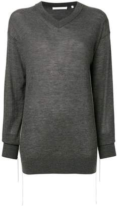 Helmut Lang cashmere long-sleeve v-neck