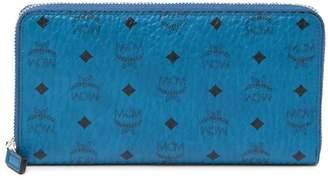 MCM Zip Around Large Monogrammed Wallet