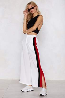 Nasty Gal Nice Set of Stripes There Wide-Leg Pants