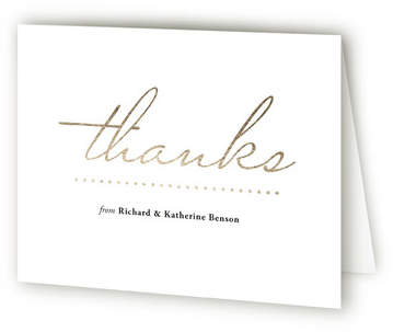 Timeless Anniversary Party Thank You Cards