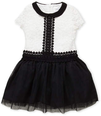 Little Angels (Toddler Girls) Lace Embroidered Tulle Dress