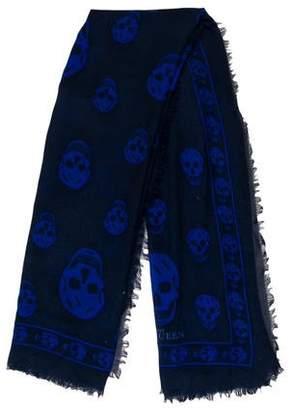 Alexander McQueen Skull Print Woven Scarf