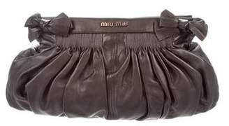 Miu Miu Ruched Leather Clutch