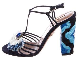Aquazzura 2018 Samba Suede Sandals