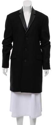The Kooples Wool Blend Knee-Length Coat