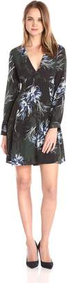 ASTR the Label Women's Mabel Floral Print Lace up Back Dress