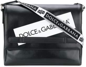 Dolce & Gabbana logo panel messenger bag