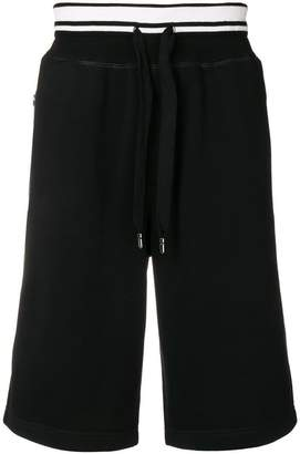 Dolce & Gabbana contrast striped waistband track shorts
