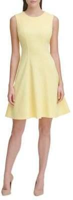 Tommy Hilfiger Deconstructed Floral Knit Fit-&-Flare Dress