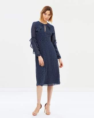 Warehouse Textured Spot Dress