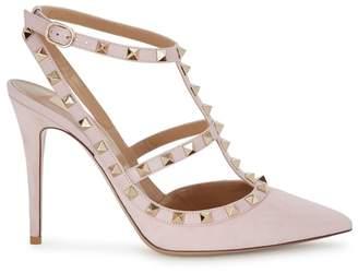 Valentino Rockstud 100 Pink Suede Pumps