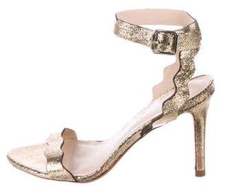 Loeffler Randall Metallic Ankle-Strap Sandals