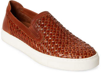 Donald J Pliner Brown Clarke Slip-On Leather Sneakers