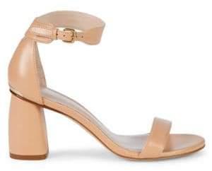 Stuart Weitzman Partly Nude Block Heel Sandals