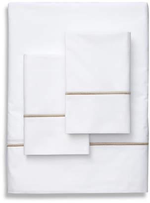 Frette One Bourdon Percale Khaki Line Sheet Set