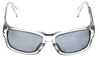 Alexander McQueen Clear Rectangle Frame Sunglasses
