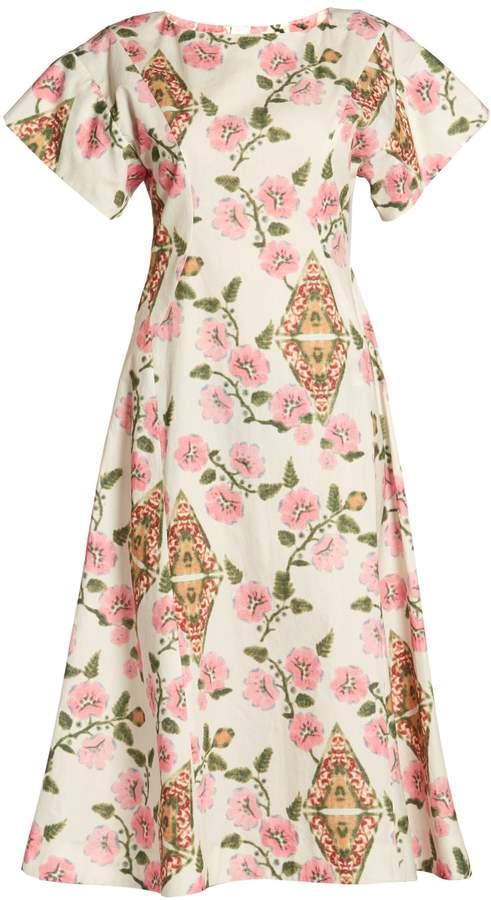 Marni Floral-print midi dress