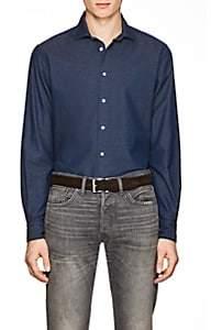 Boglioli Men's Cotton Piqué Shirt - Blue