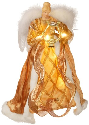 National Tree Company 16-in. Pre-Lit Glitter Angel Christmas Tree Topper