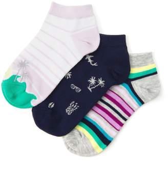 Gymboree Island Ankle Socks 3-Pack