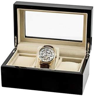 Thomas Laboratories Earnshaw 3 Watch Collectors Box Men's Black wood Watch Boxes ES-CBOX-01