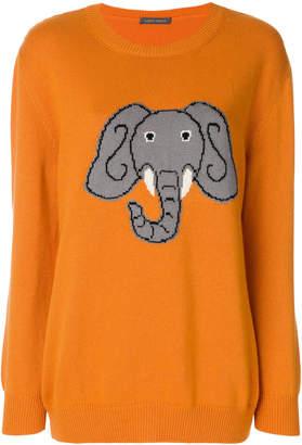 Alberta Ferretti elephant intarsia jumper