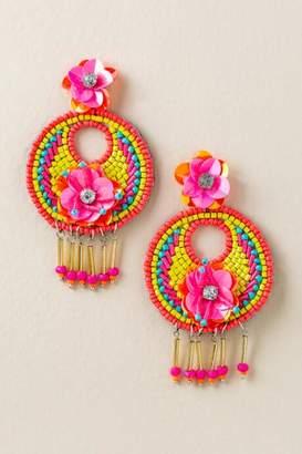 francesca's Lia Beaded Statement Earrings - Multi