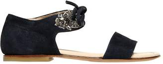 Ermanno Scervino Embellished Suede Sandals