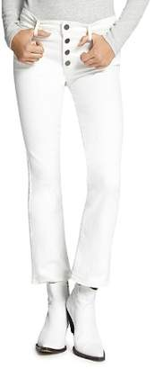 Sanctuary Connector Cropped Flare Jeans in Angeleno White