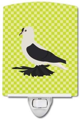 Pigeon Caroline's Treasures Saxon Fairy Swallow Green Ceramic Night Light