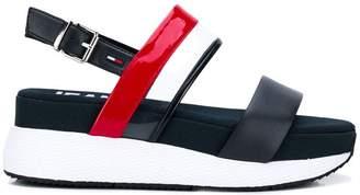 Tommy Hilfiger logo stripe sandals