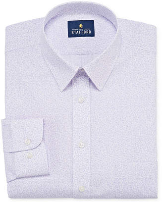 STAFFORD Stafford Super Shirt Dress Shirt with Comfort Stretch, Stain Repel and Wrinkle Free