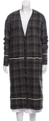 Thom Browne Bouclé Plaid Coat